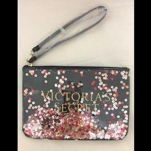 Victoria's Secret wristlet, makeup bag (shakeable)